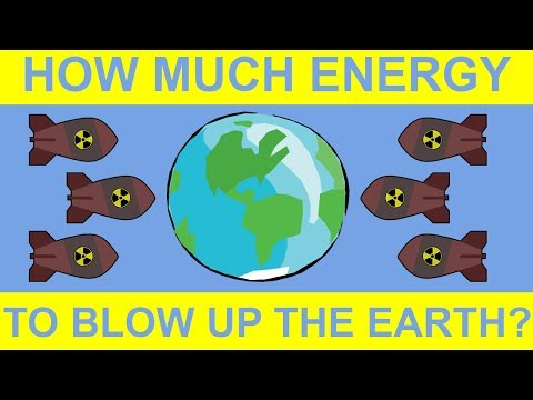What Would it Take to Blow Up the Entire Earth?