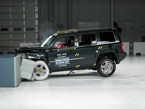 2008 Jeep Patriot Moderate Overlap IIHS Crash Test