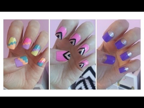 Easy nail art for beginners youtube easy nail art for beginners solutioingenieria Image collections