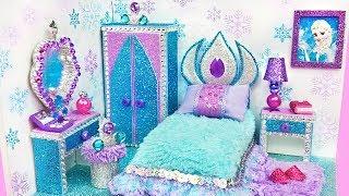 DIY Habitación en Miniatura de Frozen Elsa ~ Miniature Dollhouse Colección Casa de Muñecas