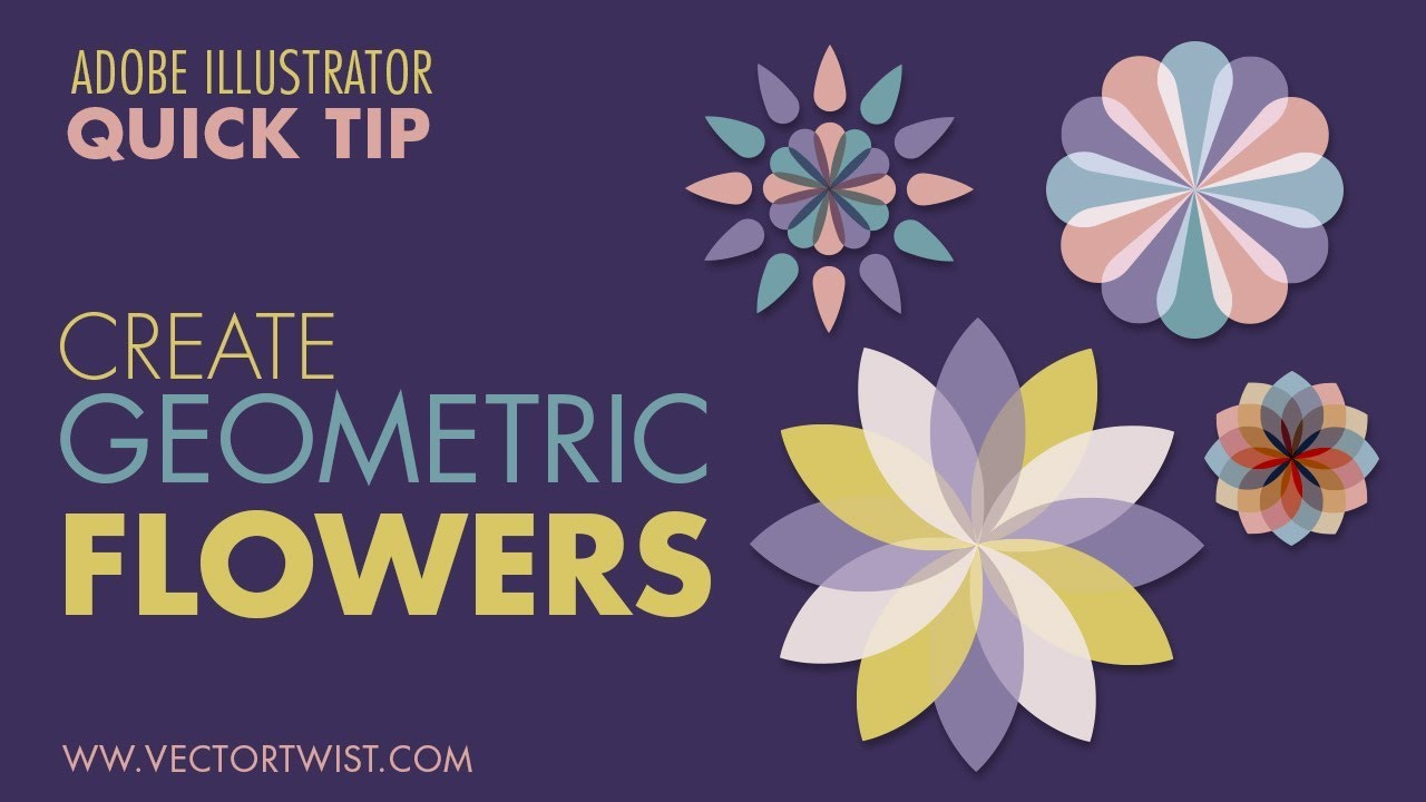 Geometric Shapes In Illustrator Stroke Techniques To Create Flower Patterns Easy Youtube