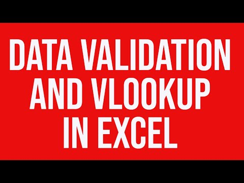 Data Validation And Vlookup In MS Excel