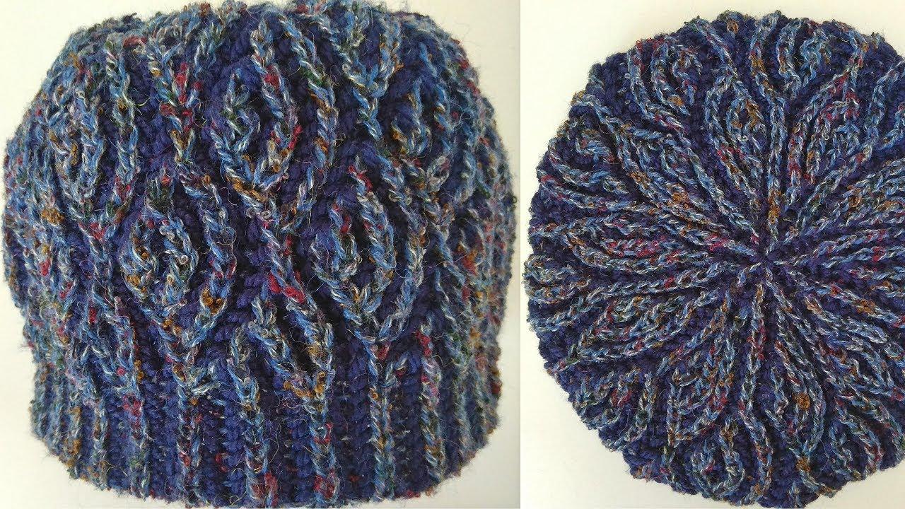 Brioche knitting *Fish scales hat* knitting patterns - YouTube