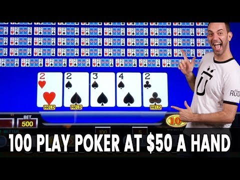 ♣️ ♦️ ♠️ ♥️ 100 Play POKER At $50 A Hand! 🖐️ Shuffle Up And...Line It Up?