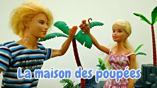 Vidéo en français pour enfants avec Barbie. Ken et Kevin sur une île deserte