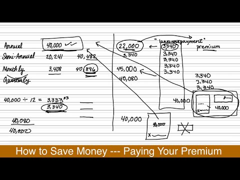 How to Save Money --- Paying Your Premium