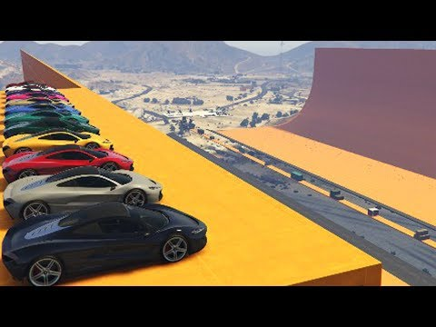 CORRE O TE ATROPELLO! ESQUIVO A 5 COCHES!!! - GTA V ONLINE