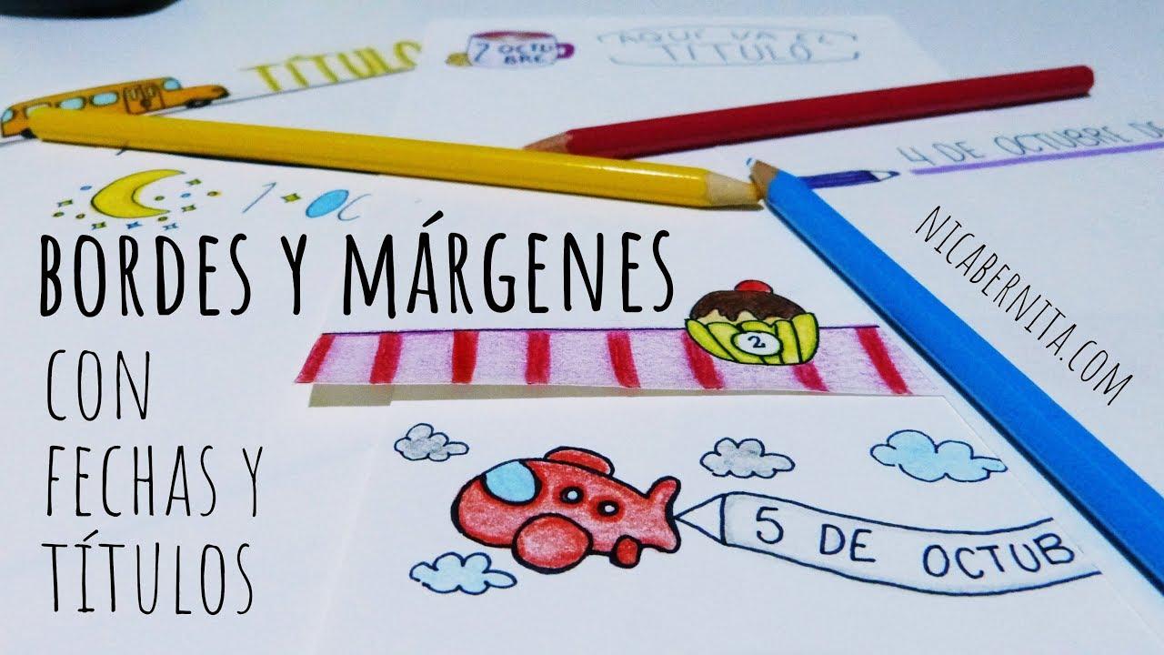 Ideas De MÁrgenes Para Decorar Cuadernos Y Libretas: MÁRGENES Y TÍTULOS PARA CUADERNOS IDEAS PARA DECORAR TUS
