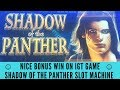 NICE BONUS WIN ON SHADOW OF THE PANTHER SLOT MACHINE - IGT GAME - SunFlower Slots