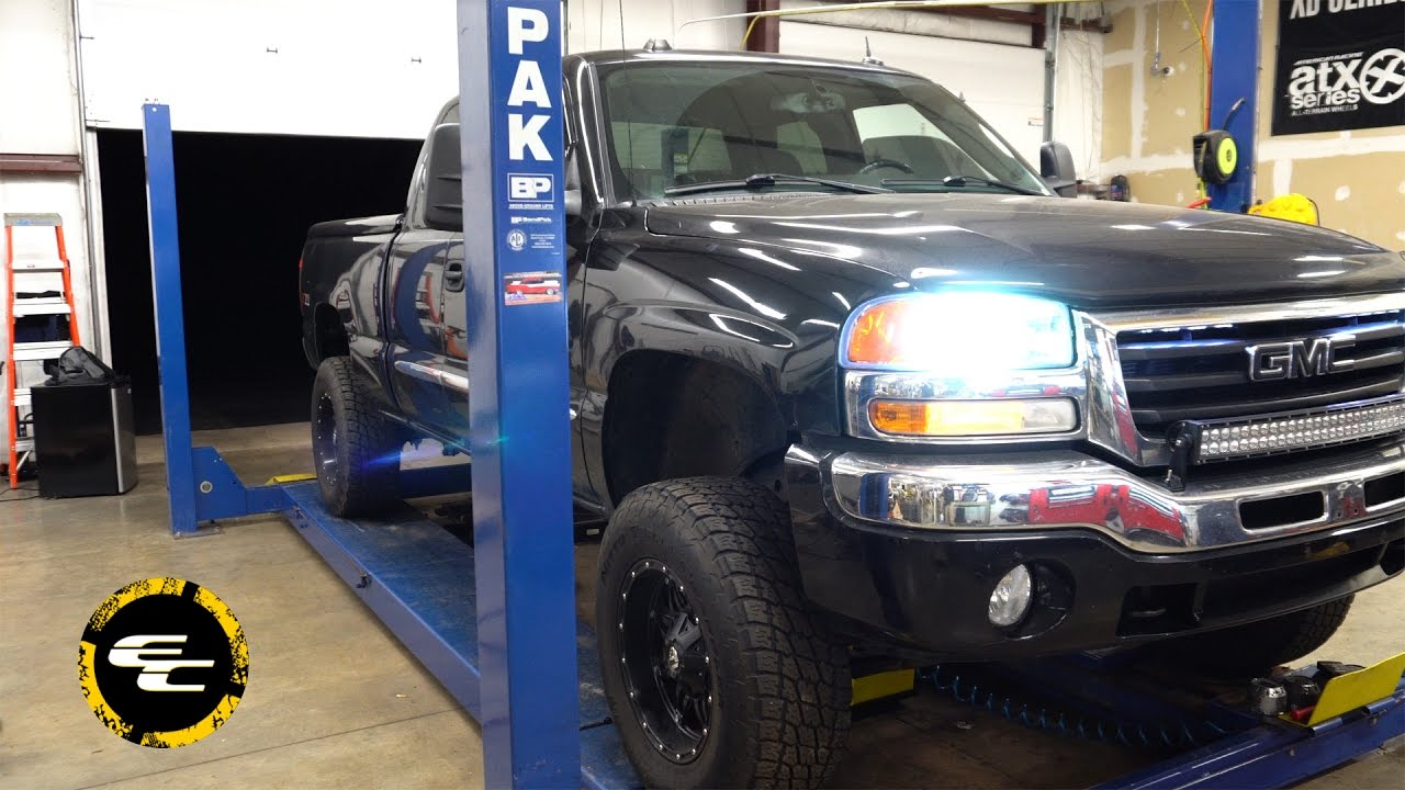 realview 2005 gmc sierra 1500 w 6 inch rough country suspension lift kit [ 1280 x 720 Pixel ]