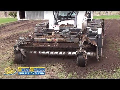 Harley Rake Attachment for Skid Steer Loaders - Demo