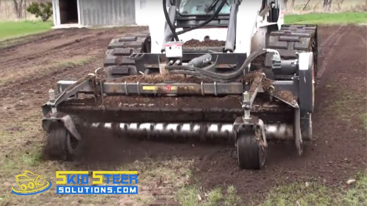 Harley Rake Attachment For Skid Steer Loaders Demo YouTube