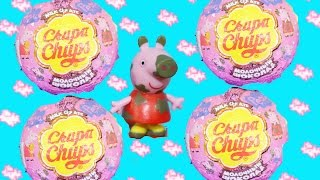 Chupa Chups TOYS SURPRISE Peppa Pig SURPRISE EGG Chocolate Kids Kinder Toys Egg Video Peppa Pig
