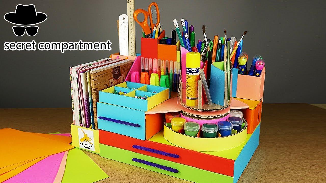 Diy Desktop Pencil Organizer With Secret Compartment From