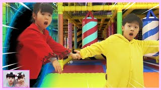 Indoor playground trampoline center fun and a magic adventure children with nursery rhymes songs 로미유