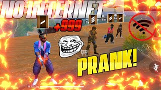 NO INTERNET PRANK BY VETERANS MUST WATCH | FREE FIRE