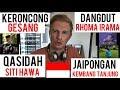 REACTION   INDONESIAN TRADITIONAL MUSIC    KERONCONG   DANGDUT   QASIDAH   JAIPONGAN