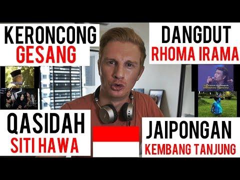 (REACTION!) INDONESIAN TRADITIONAL MUSIC // KERONCONG - DANGDUT - QASIDAH - JAIPONGAN