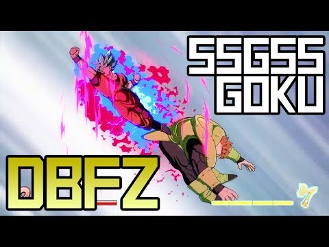 DBFZ: SSGSS Goku Combos and Hype!