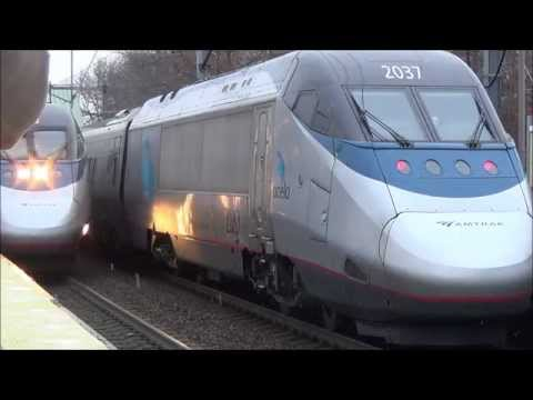 A Day @ Amtrak's Route 128 Station With LOADS Of Action!!