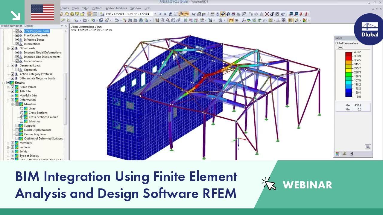 Webinar Bim Integration Using Finite Element Analysis And Design Software Rfem Youtube