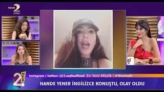 Hande Yener İngilizce Konuştu Olay Oldu! | 2. Sayfa Resimi