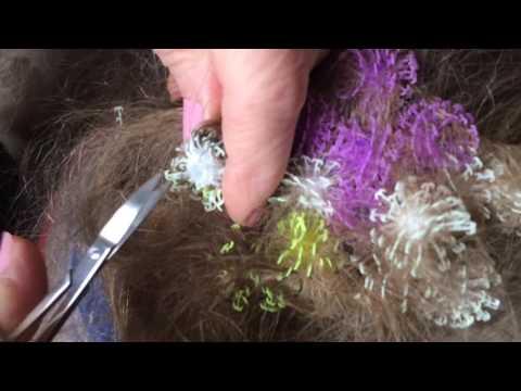Как убрать колючки с волос