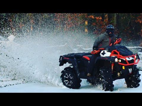 This quad is incredible 2017 xmr 1000 in snow