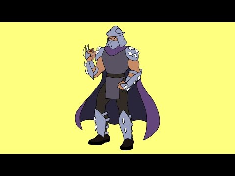 How to draw The Shredder Teenage Mutant Ninja Turtles characters 1987 TV series
