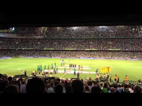 Himno + Dicen que estamos locos de la cabeza   Real Betis - Villarreal