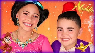 Disney Aladdin and Jasmine Makeup and Costumes
