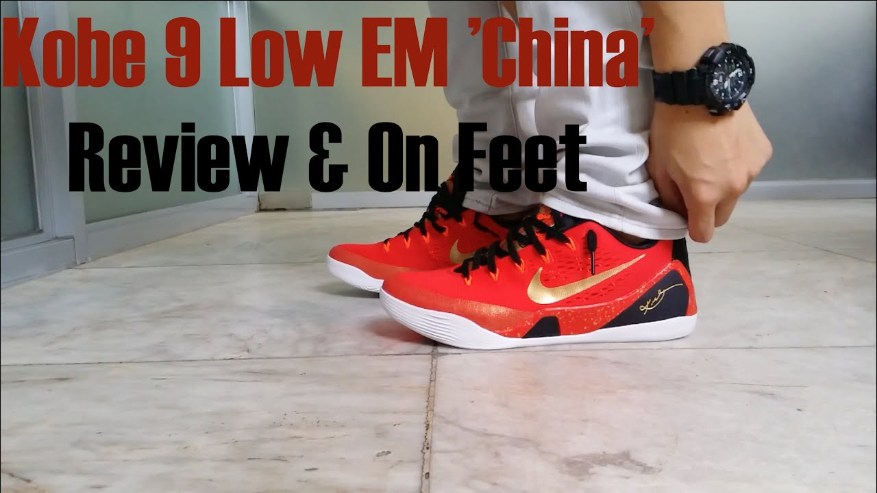 Kobe 9 EM Low China Review   On Feet - YouTube a587781a1