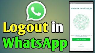 How to Logout iฑ WhatsApp