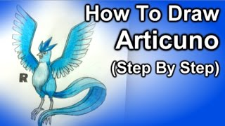How Tow Draw Articuno Step By Step