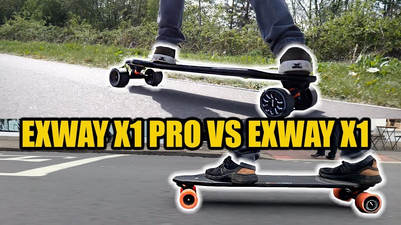 Exway X1 Pro Vs Original Exway Electric Skateboard Comparison Review Youtube