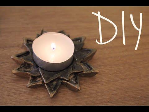 DIY Tealight/Incense Holder - YouTube