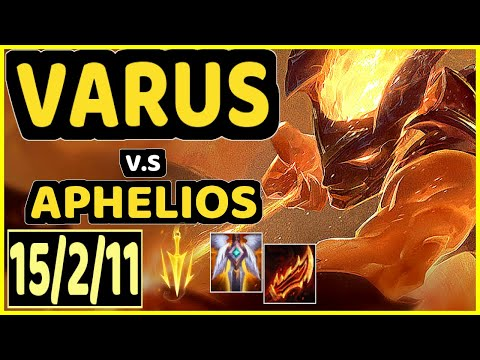 SNEAKY (VARUS) vs APHELIOS - 15/2/11 KDA BOTTOM ADC CHALLENGER GAMEPLAY - NA