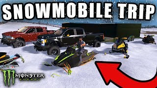 MULTIPLAYER SNOWMOBILE TRIP! WITH NEW POLARIS RMK & SKIDOO MXZ | FARMING SIMULATOR 2017