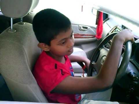 10 years old kid driving a CAB