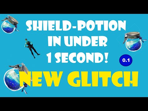 How to drink the SHIELD-POTION in under 1 SECOND | FORTNITE : BATTLE ROYALE