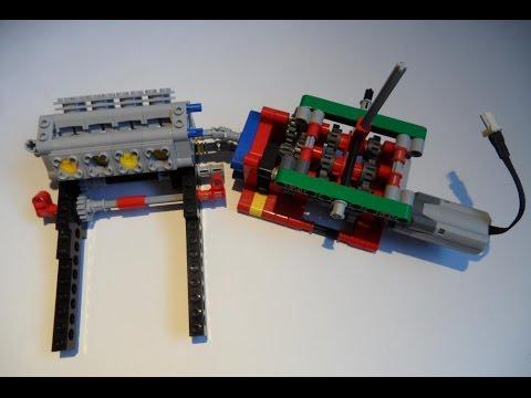 Lego Technic 6 speed gearbox principles - YouTube