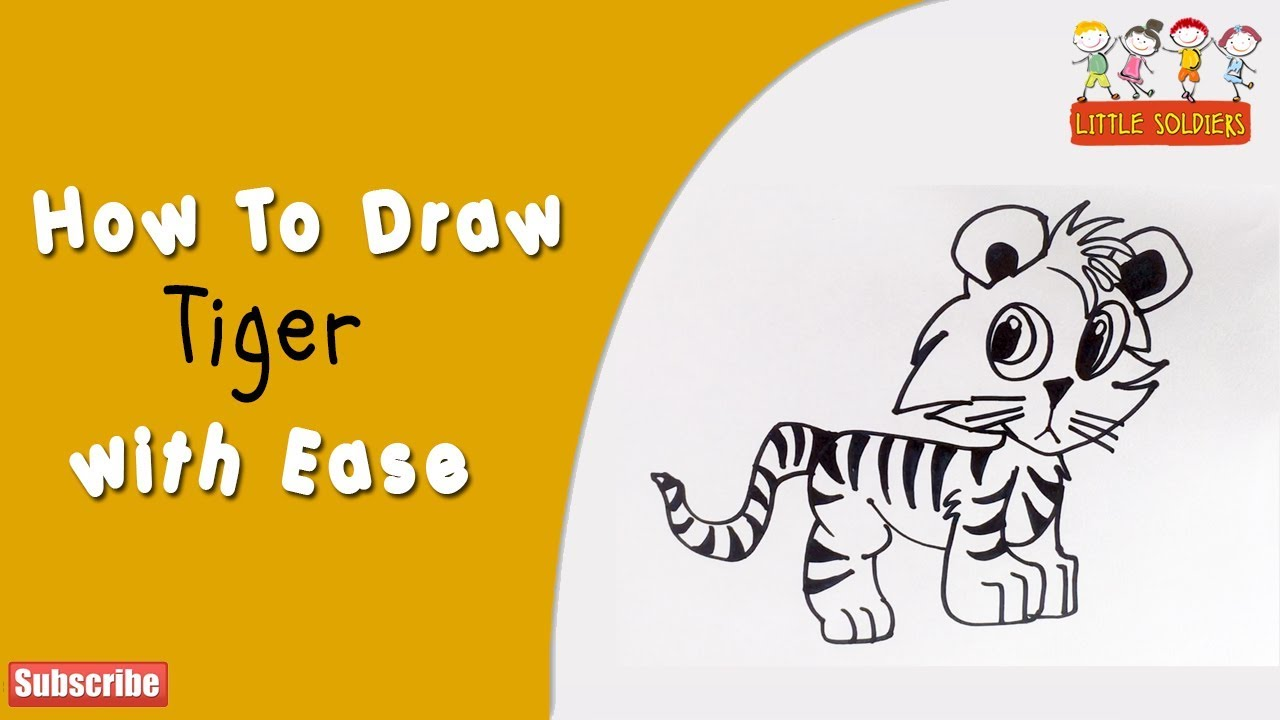 tiger video how to draw a tiger tiger cub tiger diagram little soldiers [ 1280 x 720 Pixel ]