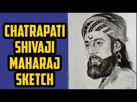 chhatrapati shivaji maharaj sketch tutorial/swarajya rakshak sambhaji/how to draw thumbnail