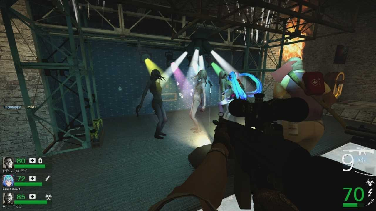 Left 4 Dead 2 Dancing witch?! Custom map Cure 2 Expert Realism First  Playthrough
