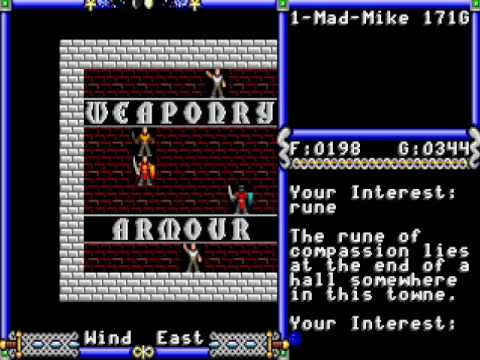Ultima IV: Quest of The Avatar - Comparison Between the EGA, VGA Upgrade, and NES Versions