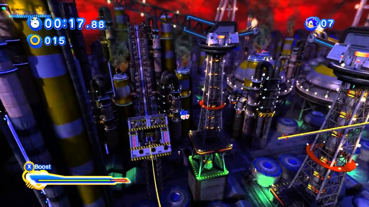 Sonic Generations Chemical Plant Zone 2D And 3D Speedrun