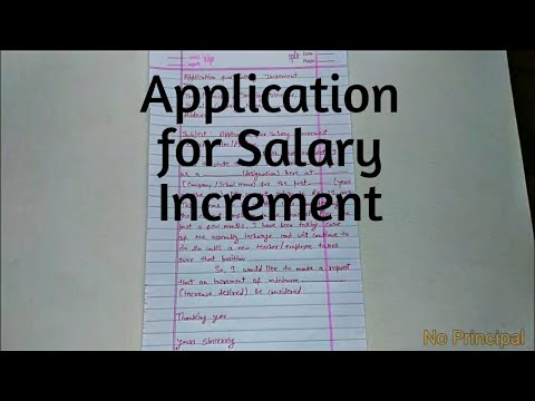 Application For Salary Increment | Salary Increment Application | How To Write An Application