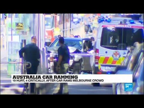 Australia: Two men arrested after car rams Melbourne crowd