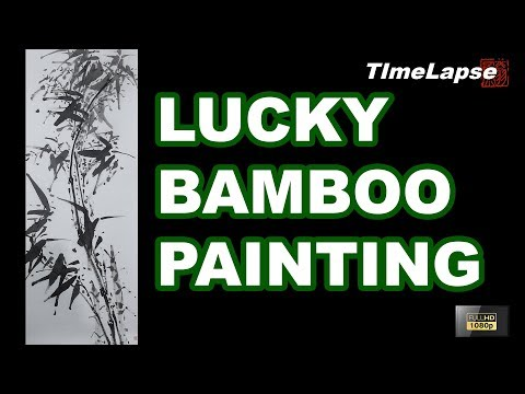 Lucky Bamboo Painting with Watercolor – Traditional Chinese Art – TIMELAPSE