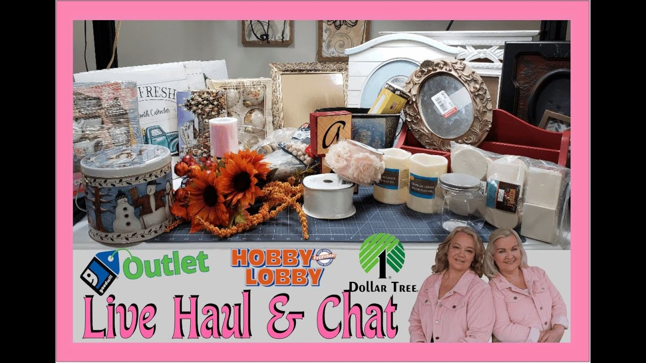 LIVE HAUL FROM Goodwill Outlet, Hobby Lobby, TJ Maxx, Wal-mart & Dollar Tree | Hang Out and Chat!